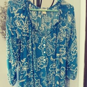 Lucky Brand top w 3/4 sleeves